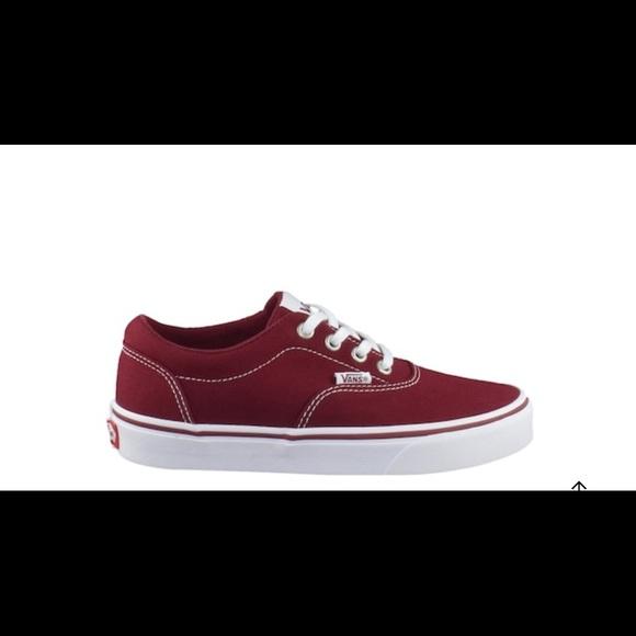 Vans Burgandy Sneakers
